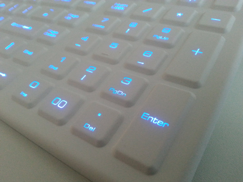 SterileFLAT Antibacterial Backlit Keyboard, picture 2