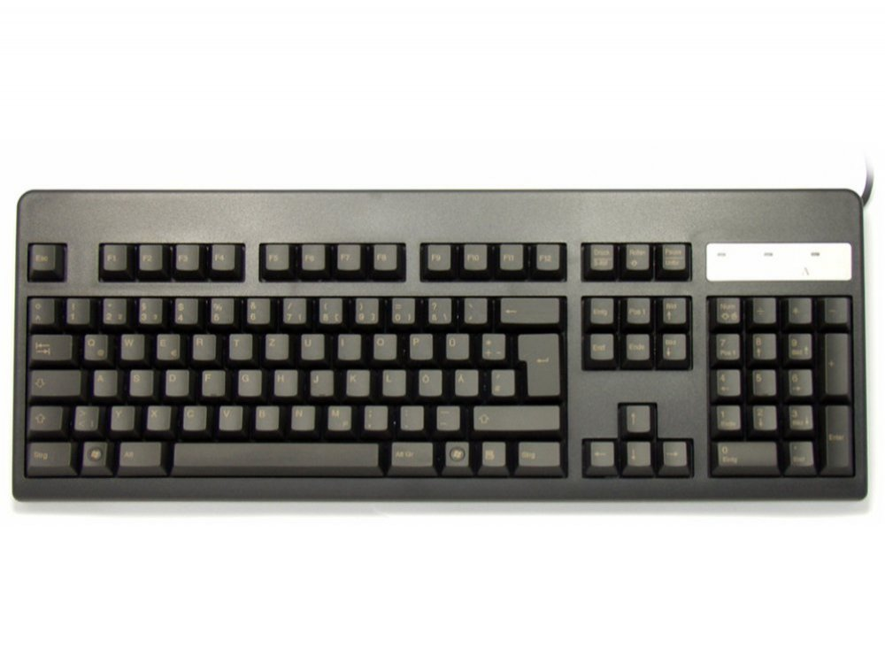 German Topre Realforce 105UB 45g Light Gold on Black Keyboard
