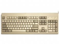 USA Topre Realforce 104UW Variable Black on Beige Keyboard