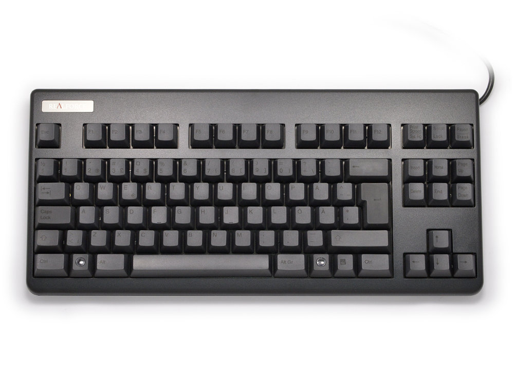 Swedish Topre Realforce 88UB 45g Key Black on Black Mini Keyboard