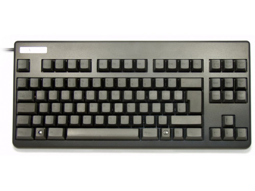 UK Topre Realforce 88UB 45g Key Black on Black Tenkeyless Keyboard