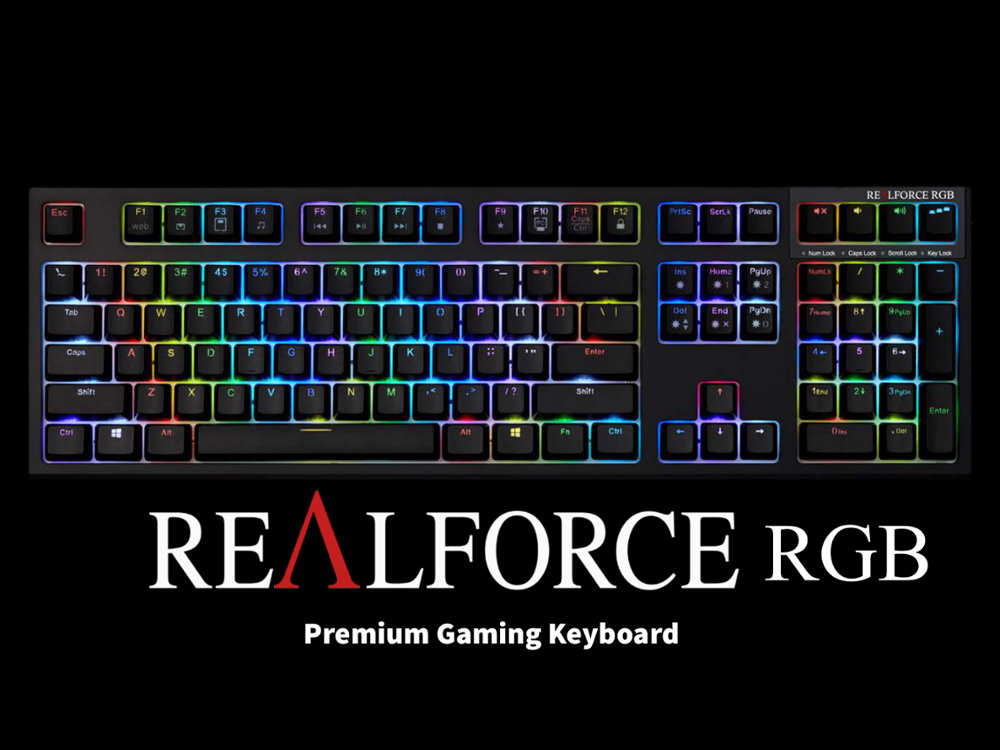 USA Topre Realforce RGB Backlit Capacitive Gaming Keyboard