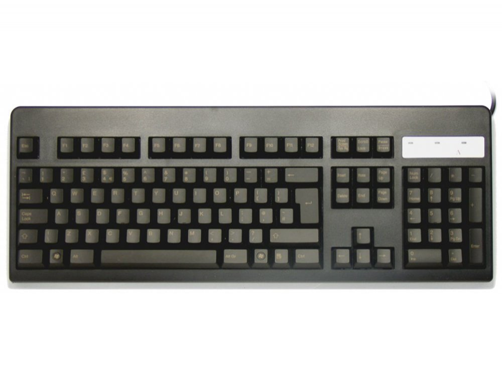 UK Topre Realforce 105UB 45g Light Gold on Black Keyboard