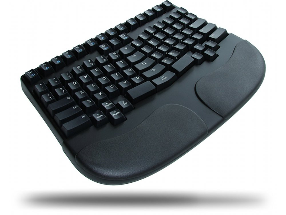 Truly Ergonomic 207 Mechanical Keyboard, Printed Soft Linear Action 86 Key