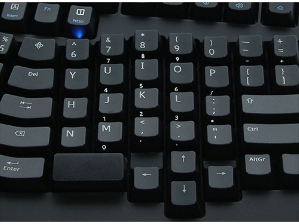 Truly Ergonomic 209 Mechanical Keyboard, Printed Tactile Action 88 Key