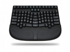 Truly Ergonomic 227 Mechanical Keyboard, Printed Soft Tactile Action 86 Key