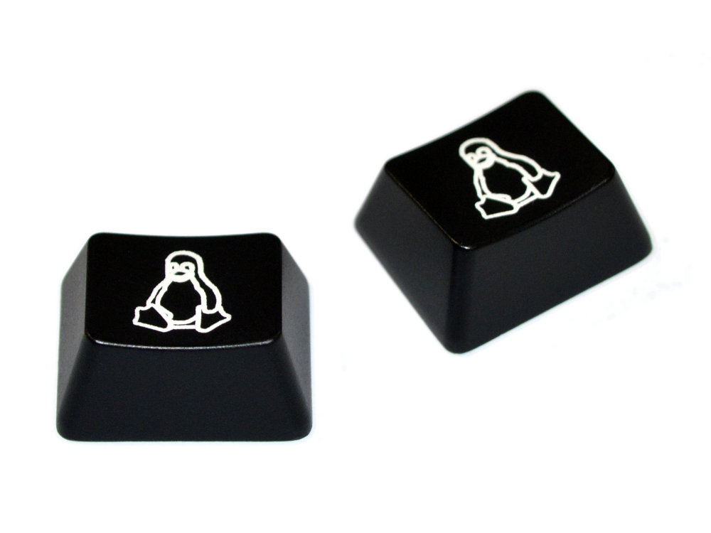 Tux Penguin Logo, Windows Keys, 2 Keycaps, for Cherry MX Switches, picture 1