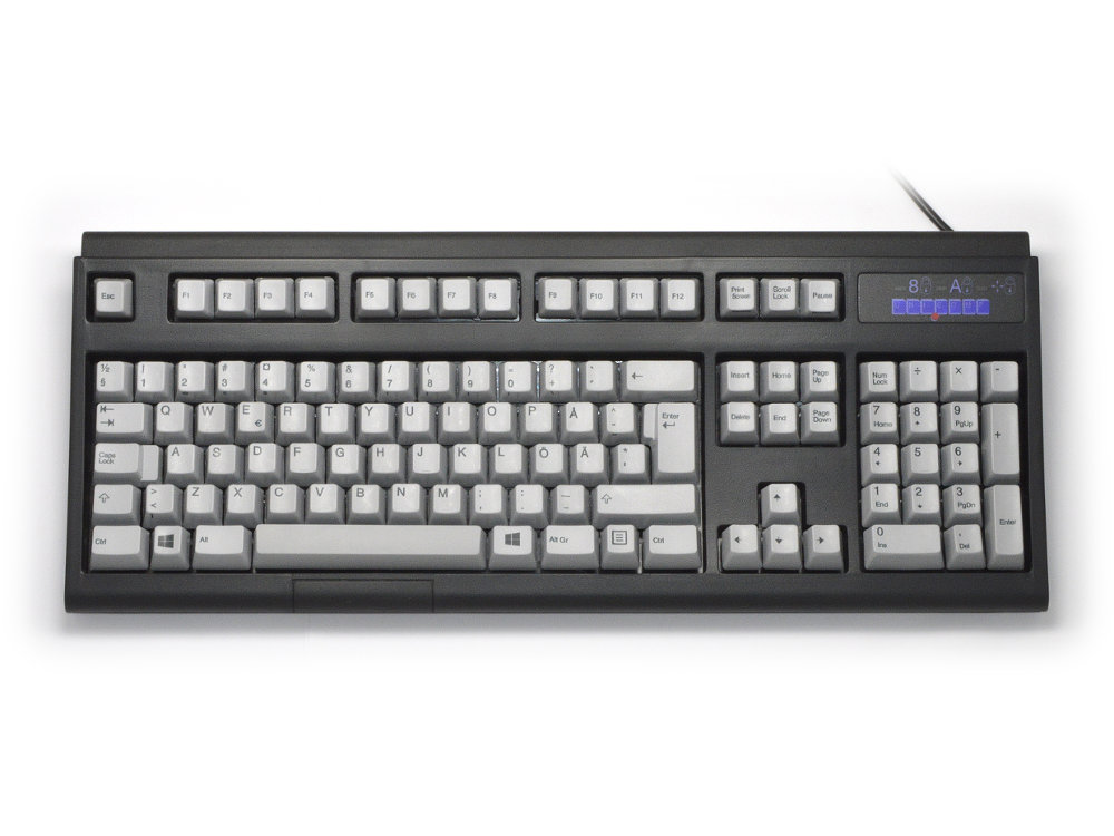 Swedish/Finnish Ultra Classic IBM style keyboard, Black USB, picture 1