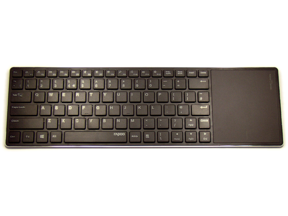 Ultra Slim Black Bluetooth Touchpad Keyboard