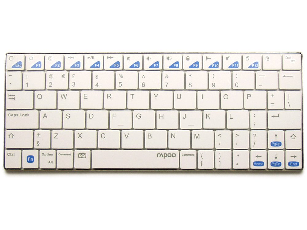 Ultra Slim White Bluetooth iPad Keyboard, picture 1