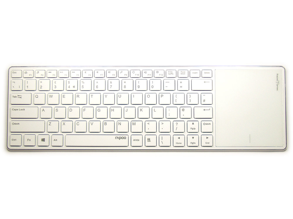 Ultra Slim White Bluetooth Touchpad Keyboard, picture 1
