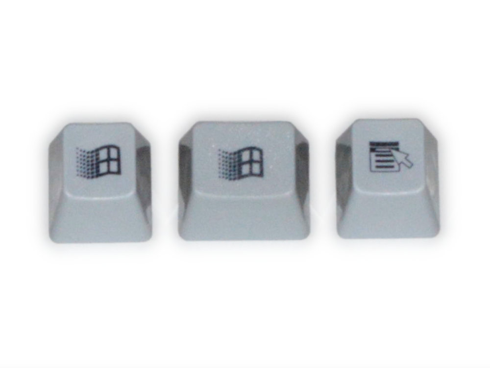 Unicomp Gray Windows 95 Keyset