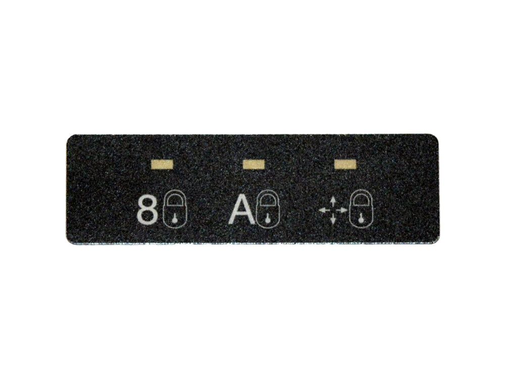 Unicomp Black LED Cover