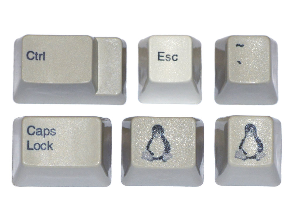 Unicomp Pebble Linux Tux Keyset