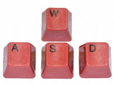 Unicomp Red WASD Keyset