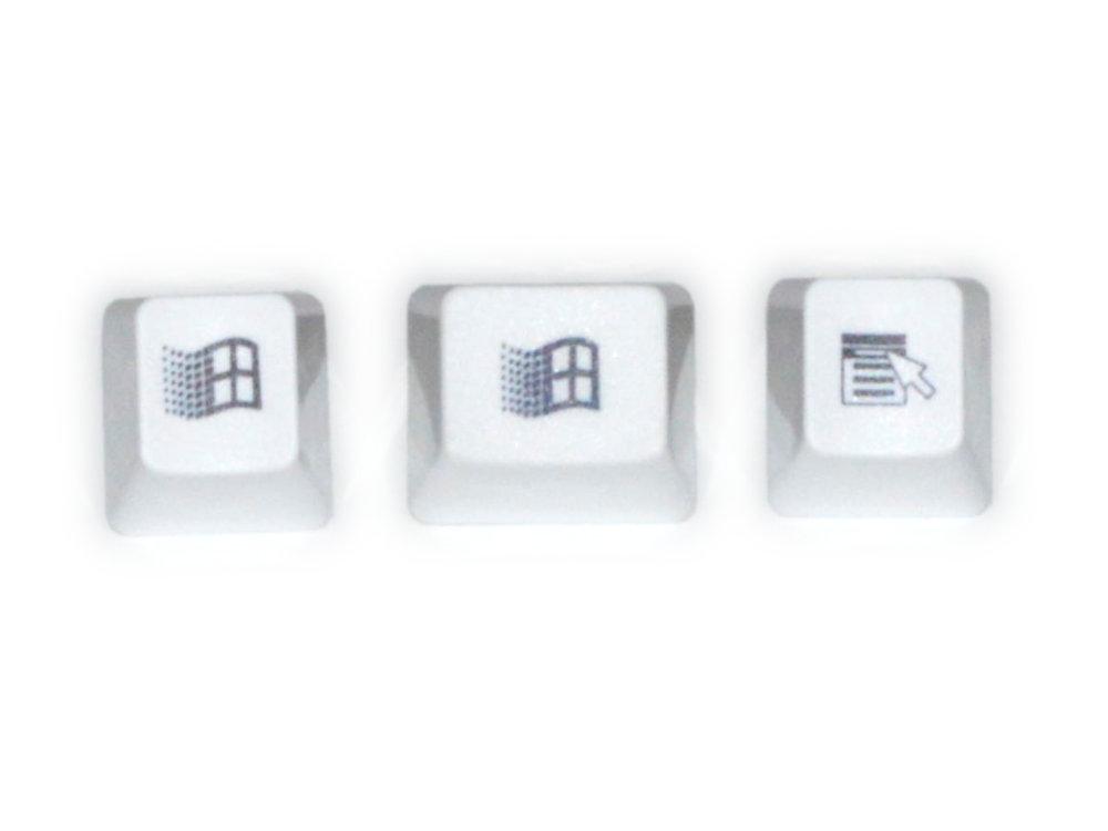 Unicomp White Windows 95 Keyset