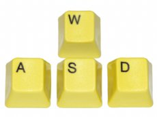 Unicomp Yellow WASD Keyset