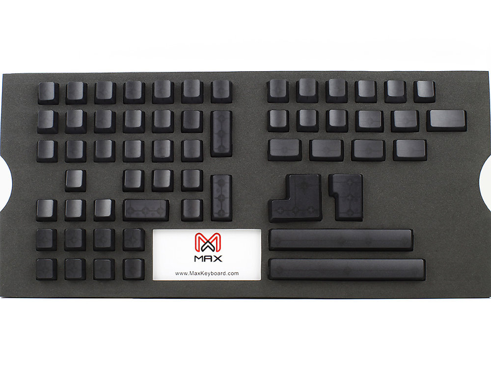 Universal Black Blank Translucent Mechanical Keyboard Keycap Set, picture 2
