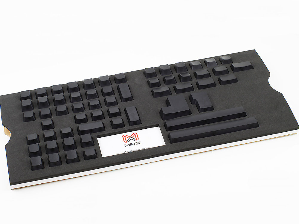 Universal Black Blank Translucent Mechanical Keyboard Keycap Set