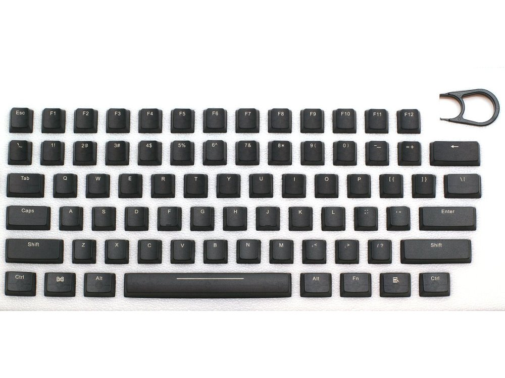 Universal Black Translucent Mechanical Keyboard Keycap Set