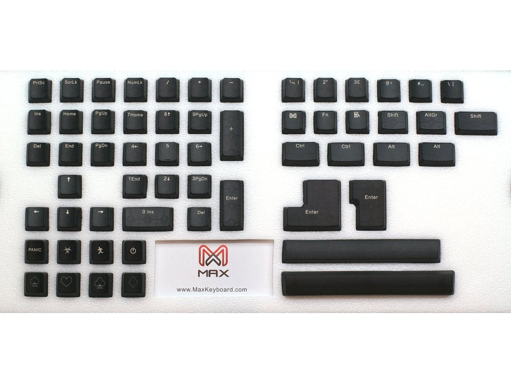 Universal Black Translucent Mechanical Keyboard Keycap Set, picture 2