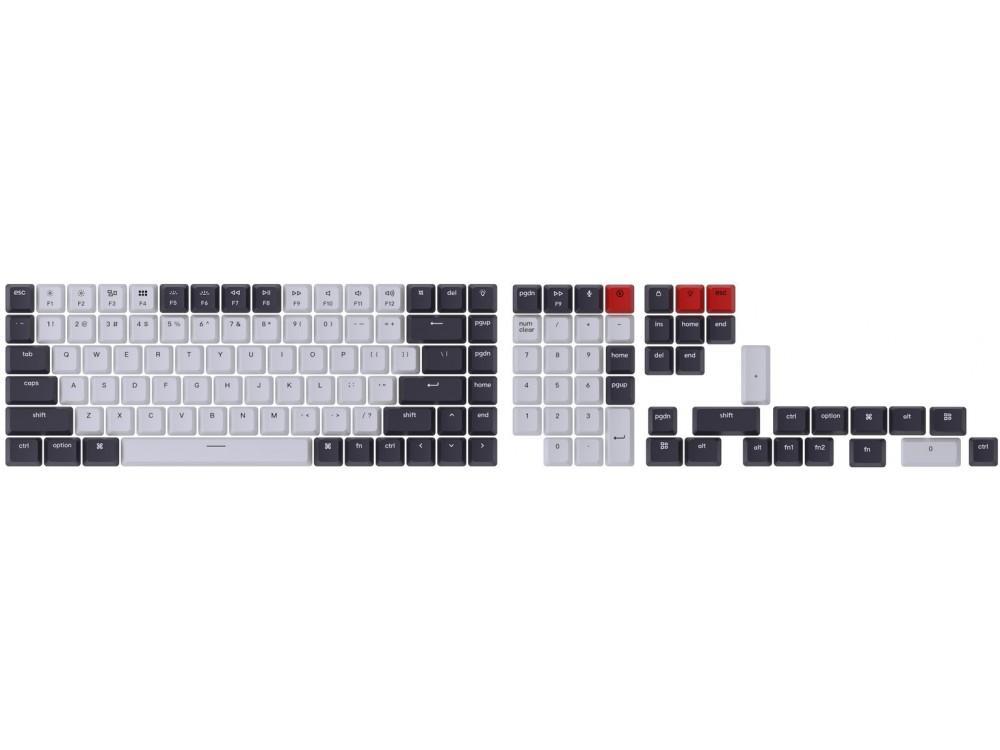 USA Keychron Full OEM Double Shot Keycap Set Bluish Black and White