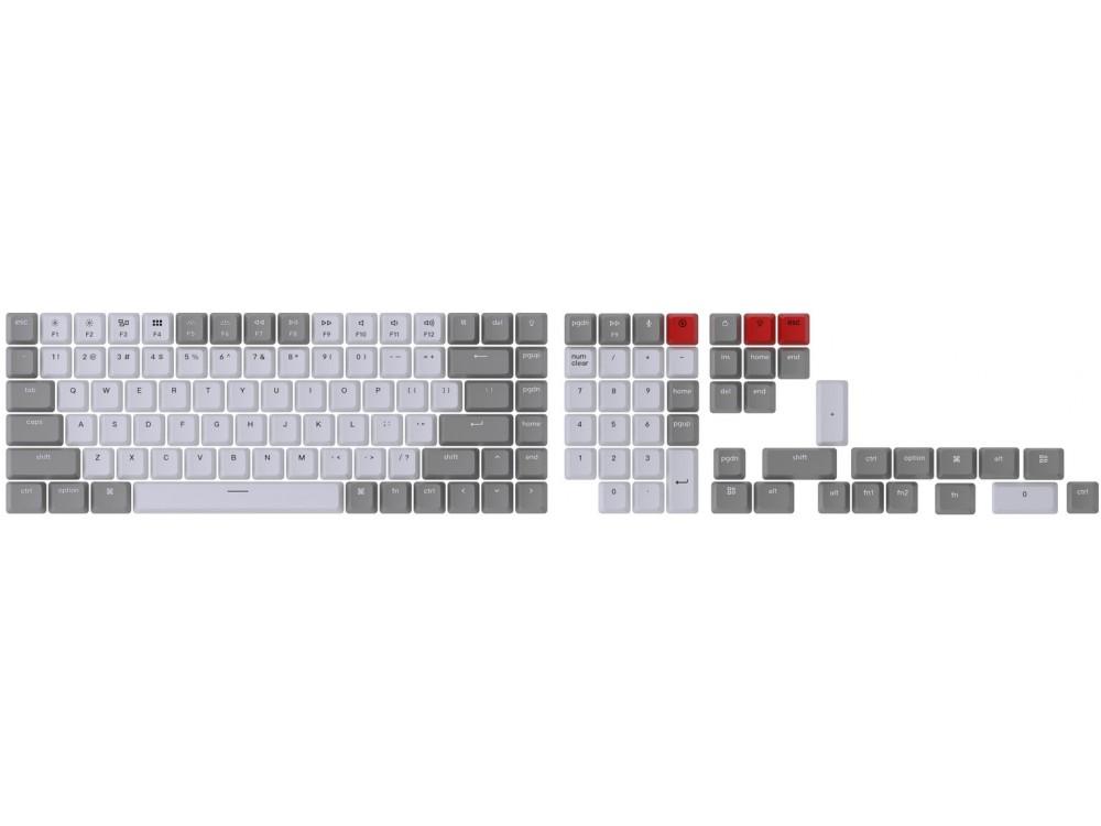 USA Keychron Full OEM Double Shot Keycap Set Grey and White
