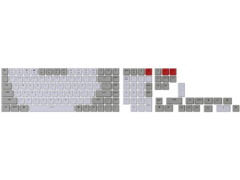 USA Keychron Full OEM Double Shot Keycap Set Light Grey