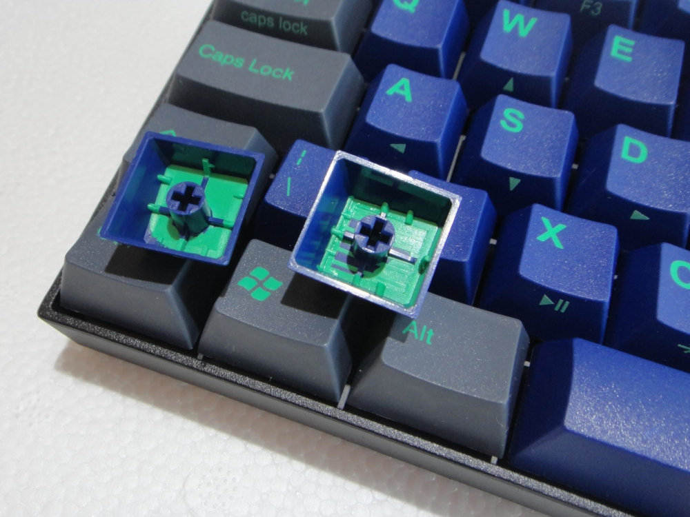 UK V60 Cubic Midnight Down 60% MX Blue Click Double Shot Keyboard