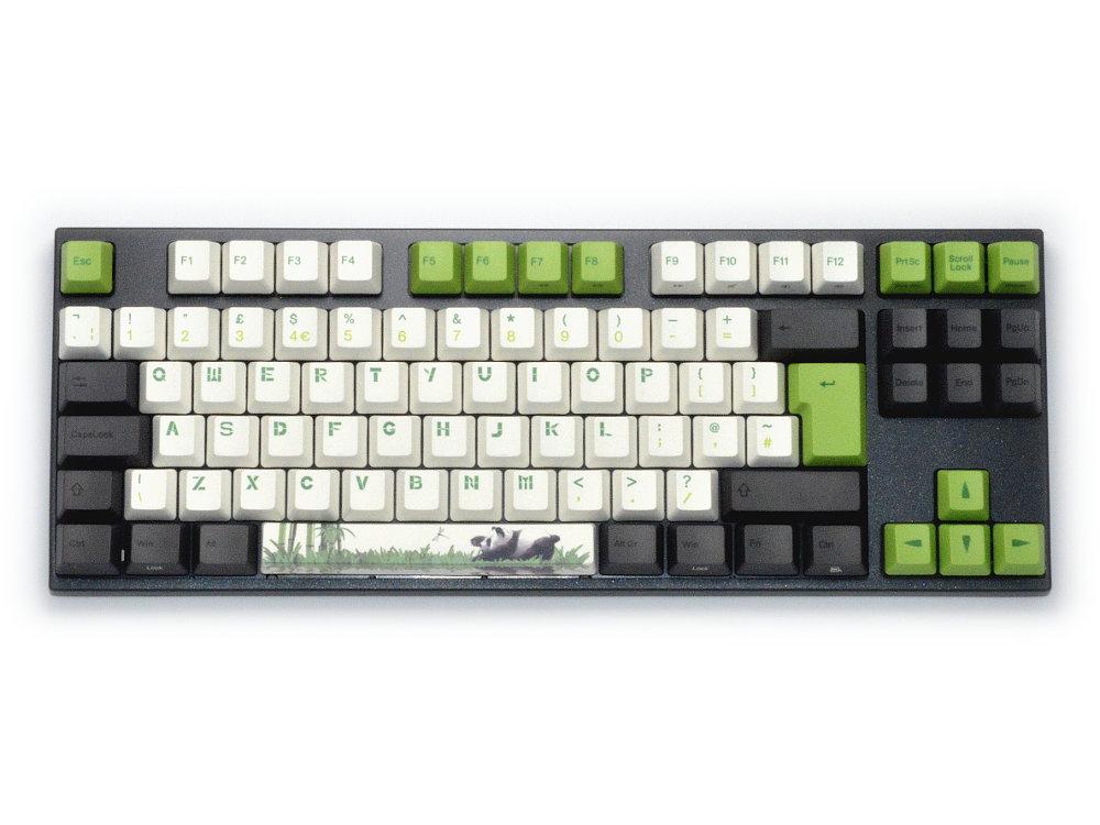 UK VA88M Panda PBT Backlit MX Brown Tactile Keyboard Set