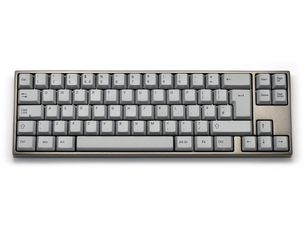 UK VA69M PBT Red Backlit Aluminum Alloy Light Grey Tactile Keyboard