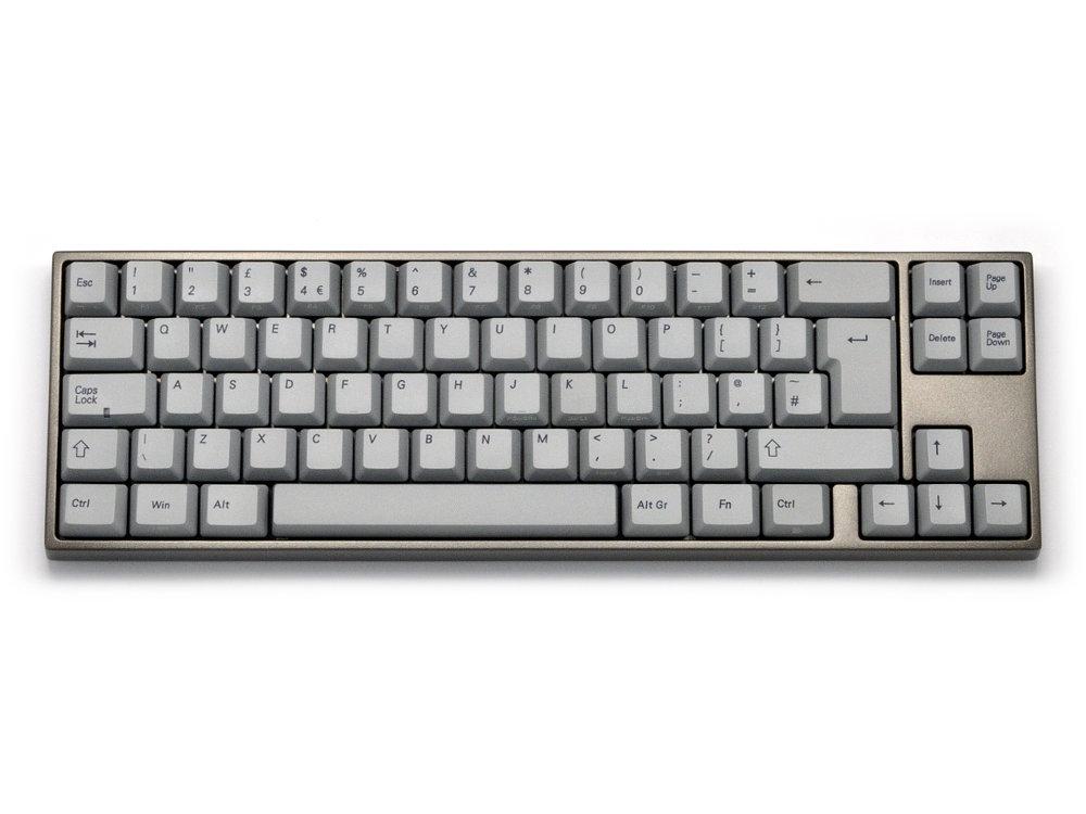 UK VA69M PBT Red Backlit Aluminum Alloy Light Grey Click Action Keyboard