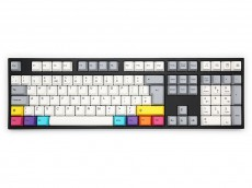 UK VA109M CMYK PBT Backlit MX Red Soft Linear Keyboard