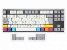 UK VA88M CMYK PBT Backlit MX Red Soft Linear Keyboard