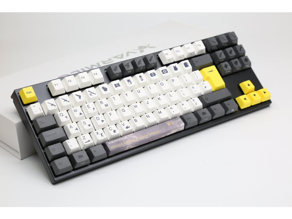 UK VA88M Chicken Dinner PBT Backlit Tactile TenKeyLess Keyboard