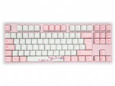 UK VA88M Sakura PBT Backlit MX Red Soft Linear TenKeyLess Keyboard