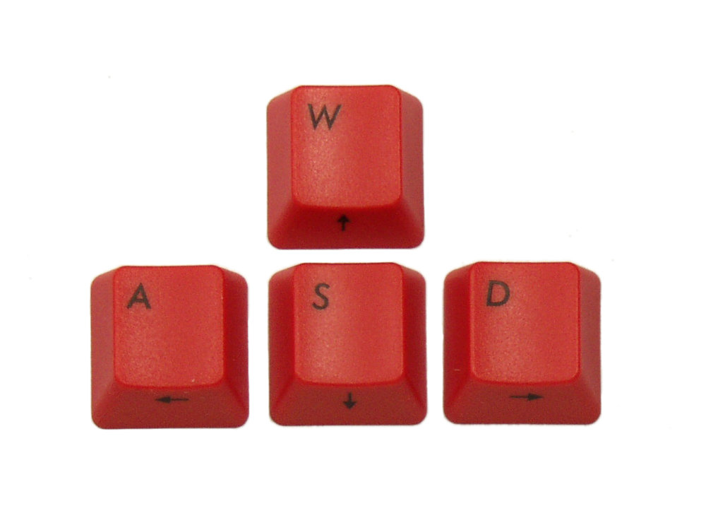 Filco Red WASD Keys for Cherry MX Switches