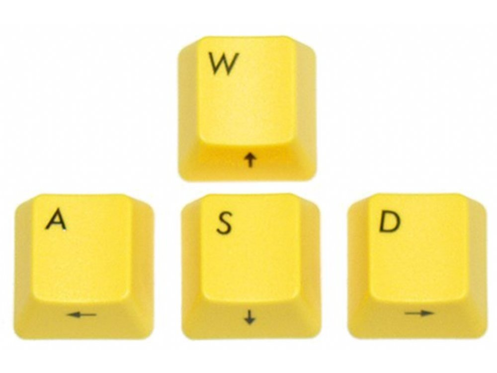 Filco Yellow WASD Keys for Cherry MX Switches, picture 1