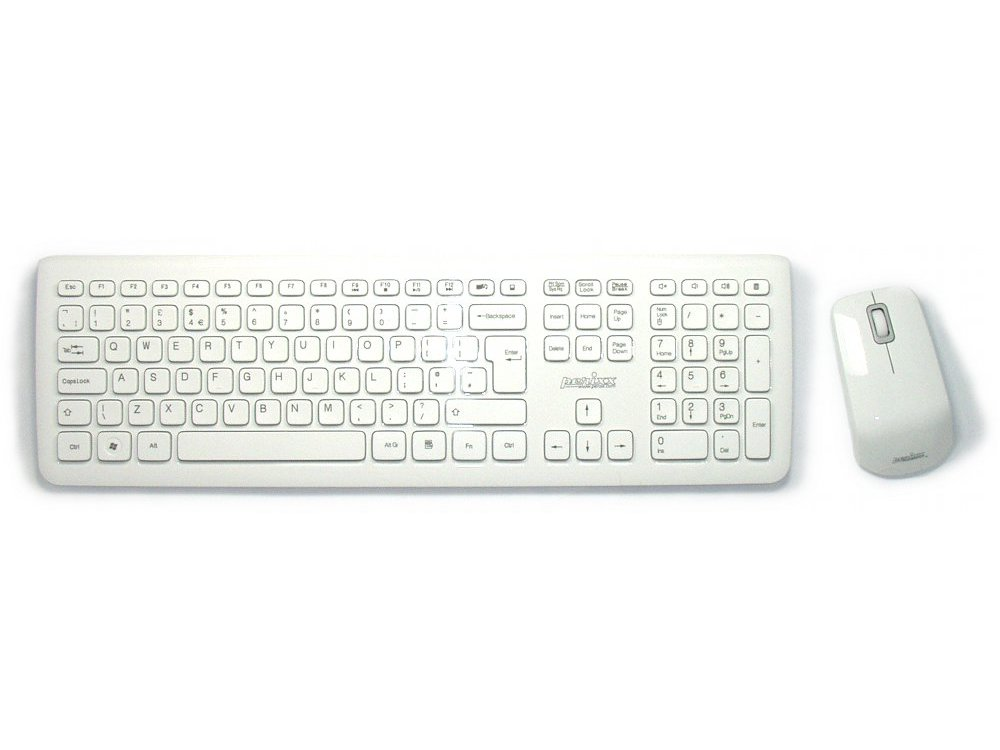 piano white wireless keyboard and mouse set kbc peri 703w the keyboard company. Black Bedroom Furniture Sets. Home Design Ideas