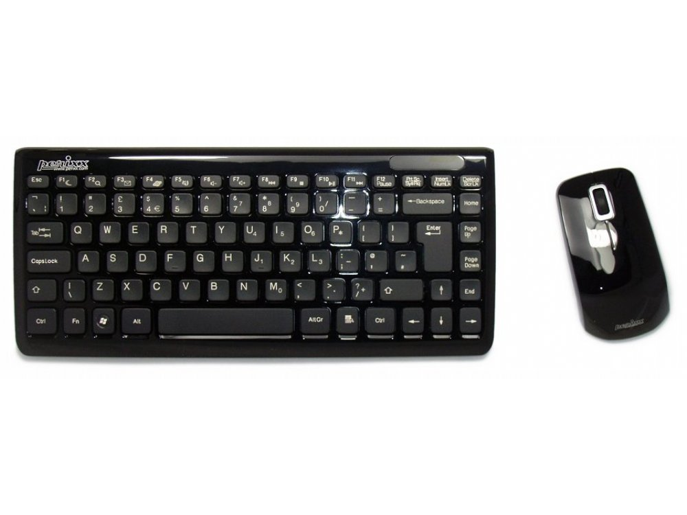 Piano Black Mini Wireless Keyboard and Mouse Set, picture 1