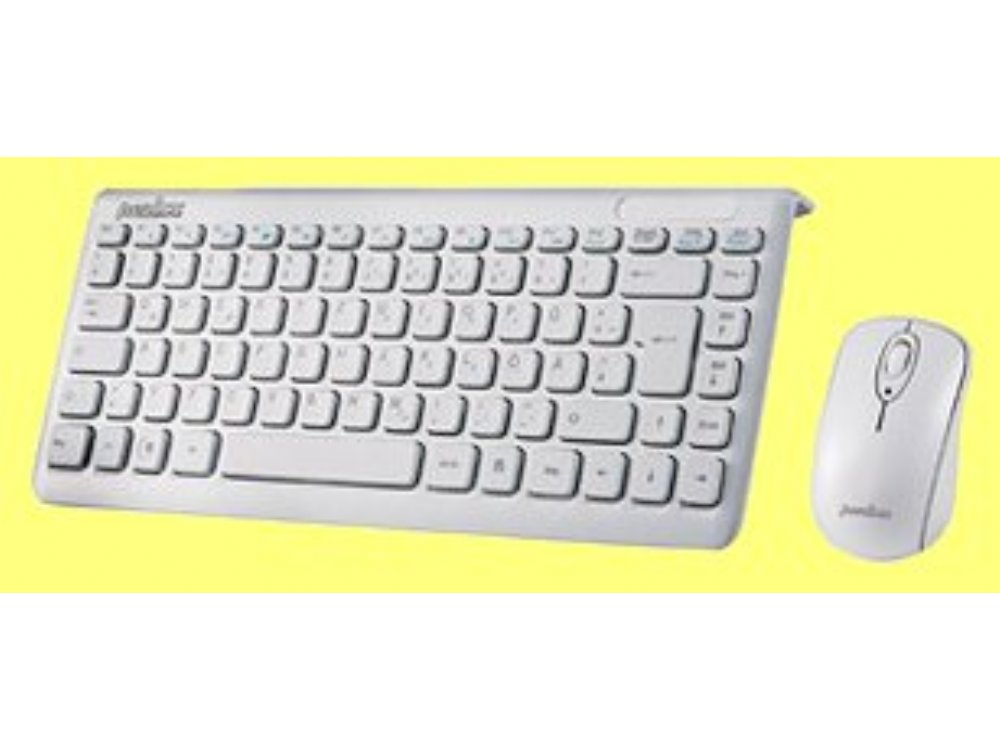 Piano White Mini Wireless Keyboard and Mouse Set