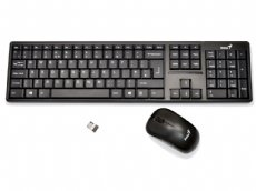 Wireless SlimStar Black Keyboard and Mouse Deskset