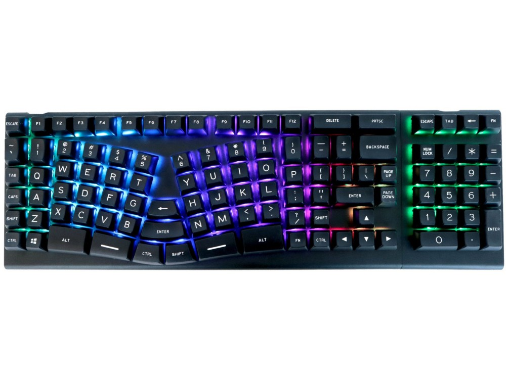 USA X-Bows Knight Plus Ergonomic Optical Silent Tactile Mechanical Keyboard
