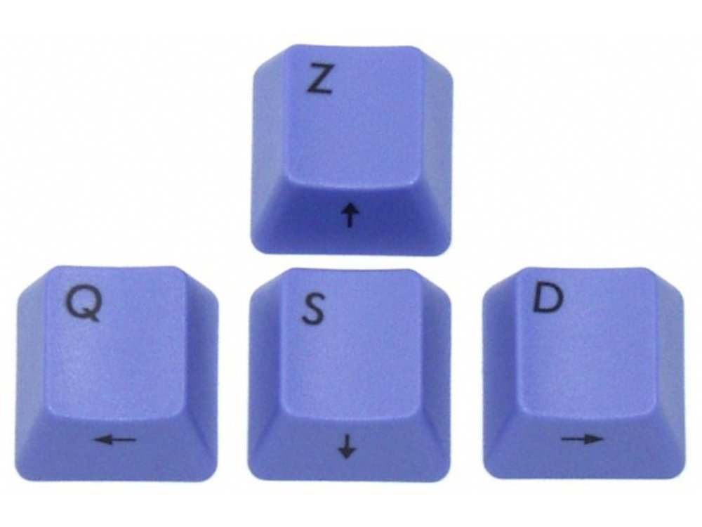 Filco Blue ZQSD Keys for Cherry MX Switches (French WASD)
